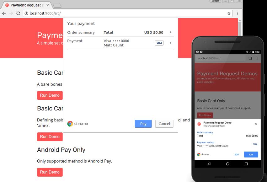 paymentRequest API