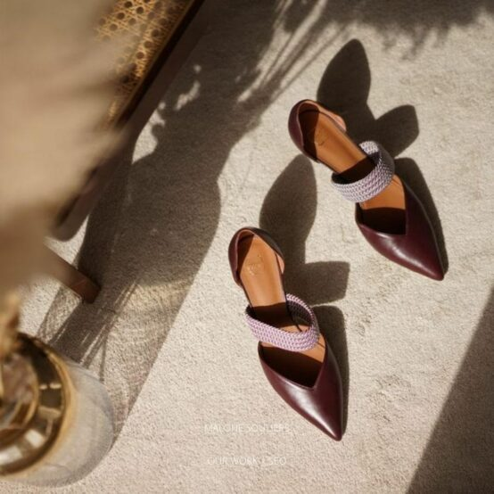 A pair of ladies shoes