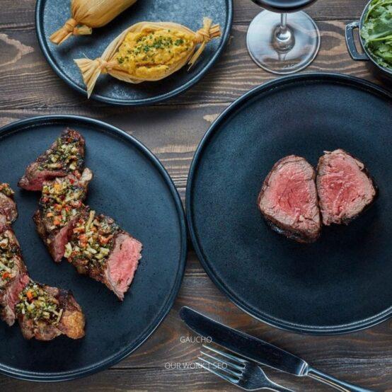 Luxury food on plates