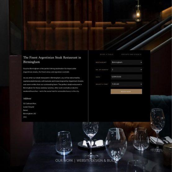 Gaucho Our Work Website & Design