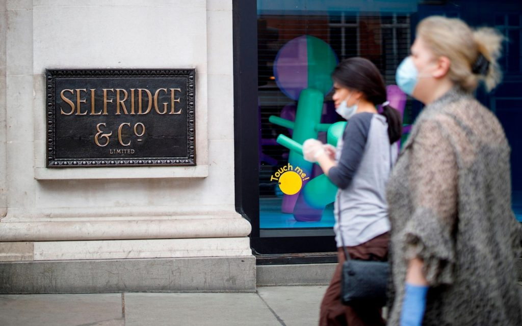 Selfridges reopening in London, post COVID. Brand Strategy to attract customers.