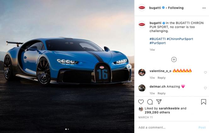 Bugatti on instagram chiron pur sport
