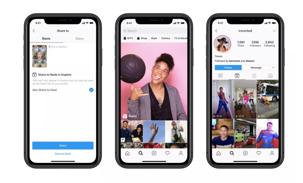 Instagram Reels - phone interface