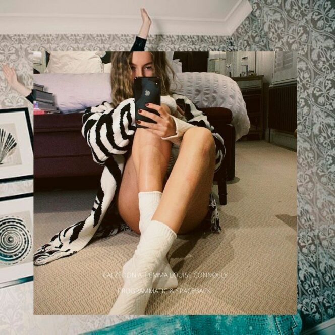 Emma Louise Connolly in white calzedonia socks taking picture in mirror