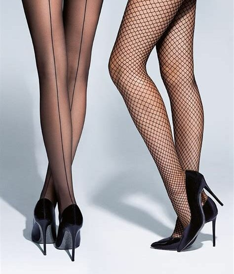 Long legs wearing Calzedonia tights
